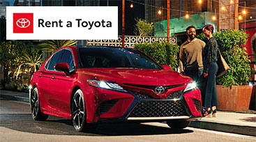 Toyota Rent a Car Image with Logo